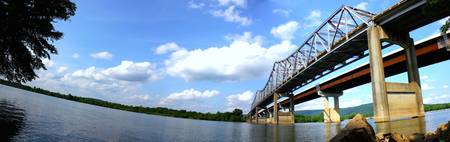 Tennessee River Bridge Day Pano