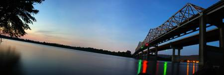 Tennessee River Bridge Night Pano