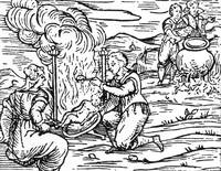 Witches roasting and boiling infants