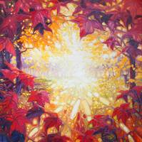 an-autumn-sunrise painting by Gill Bustamante, www