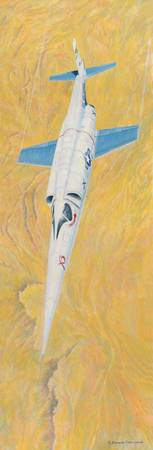 Douglas X-3 Stiletto Over Mojave