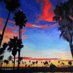 Sunset Mission Bay San Diego California by RD Riccoboni