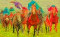 Horse race 1 - final - 127 x 78cm x 150dp