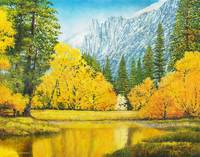 Autumn Trees Merced River Yosemite