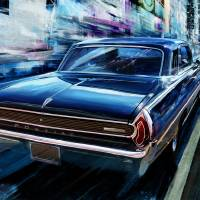 1962 Pontiac Grande Prix in New York City Art Prints & Posters by Garth Glazier
