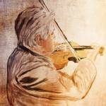 The violinist Prints & Posters