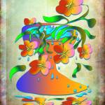 Vase with flowers Prints & Posters