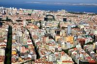 Lisbon's New Avenues, With Monumental Fountain in