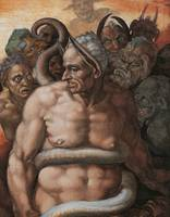 Minos, Judge of Hell, Detail of Last Judgment
