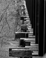 Railroad Ties on Trestle Bridge