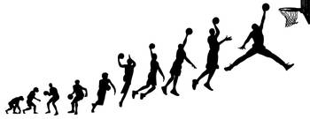 Evolution Human to Michael Jordan