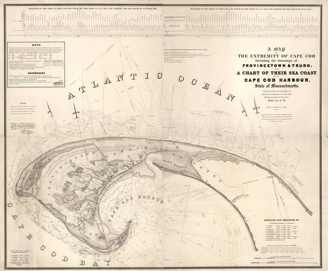 Map of Provincetown, Cape Cod : 1833
