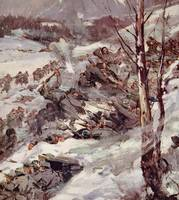 'The Russians fighting their way over the Carpathi