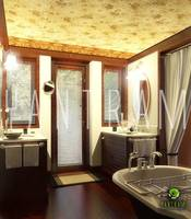 3D Bathroom interior rendering