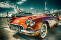 1959 Red Corvette Chevrolet Car