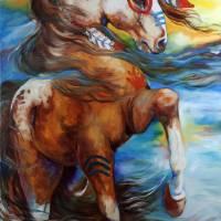 SPIRIT THUNDER INDIAN WAR HORSE by Marcia Baldwin