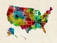 United States Watercolor Map