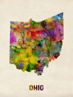 Ohio Watercolor Map
