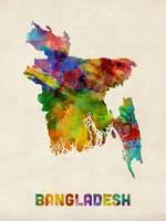 Bangladesh Watercolor Map
