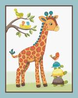 Giraffe Safari Collection - Giraffe with Turtles