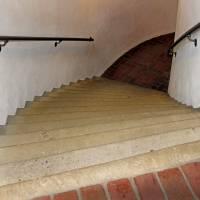 Curved Stairway at Brandywine Galelry by Karen Adams