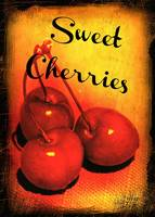 Sweet Cherries Kitchen Art by Carol Groenen