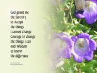 Serenity Prayer Bell Flowers