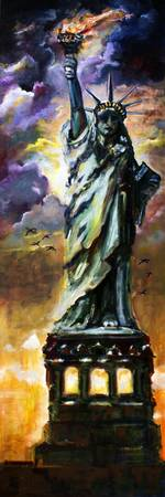 Statue Of Liberty New York Oil Painting