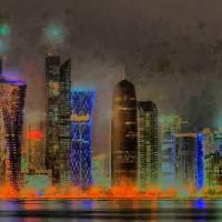 """"" Doha Qatar "" Vector Artwork"" by cdocitylife"