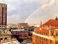 Rainbow in Baltimore City
