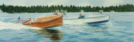 Two Chris Craft 50x150 Oil