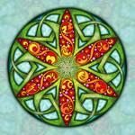 Celtic Summer Mandala by Kristen Fox