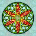 Celtic Summer Mandala by Kristen Fox