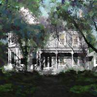 """BEAUFORT NORTH CAROLINA STREET HOUSE 2B"" by grl"