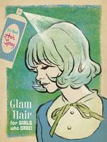 Glam Hair Retro Fashion Poster