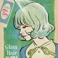 """Glam Hair - Retro Fashion Poster"" by artlicensing"