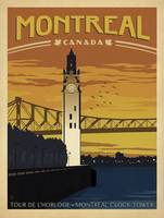 Montreal, Canada - Retro Travel Poster