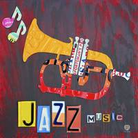 License Plate Art Jazz Series - Trumpet