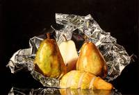 Yellow Pears On Foil