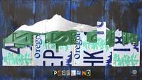 Portland Skyline License Plate Art