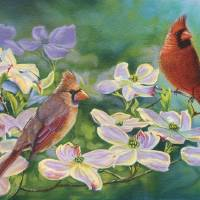 """Cardinals Of Spring"" by artlicensing"