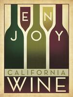 Enjoy California Wine Retro Advertisement