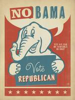 NoBama, Vote Republican - Retro Political Poster