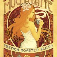 """Mucha Latte - French Roasted Blend Coffee - Retro"" by artlicensing"