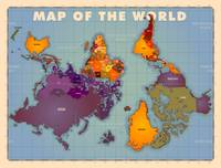Upside Down Map of the World