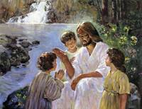 Christ And The Children