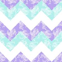 Purple Aqua Damask Fresh