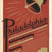 """Philadelphia, Pennsylvania Retro Travel Poster"" by artlicensing"