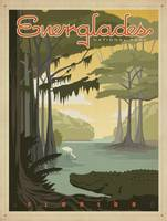 Everglades National Park Retro Travel Poster