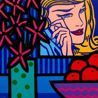 Still Life With Lichtenstein Crying Girl